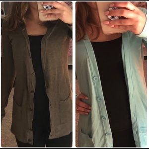 Super cute cardigans! SELLING BOTH TOGETHER!